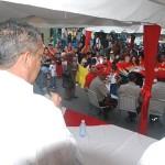 El candidato a la reelección García Carneiro participo en la instalación de la ciudad del debate